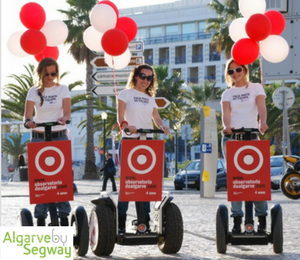 Ação de marketing com Segways